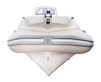Motor boat isolated on white background Royalty Free Stock Photo