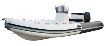 Motor boat isolated on white background Stock Image