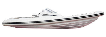 Motor boat isolated on white background Royalty Free Stock Images