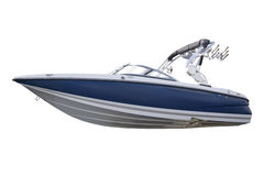 Motor boat. New modern motor boat.Isolated over white background Royalty Free Stock Images