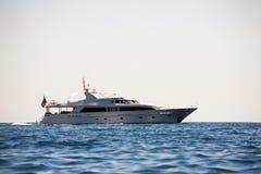 Motor boat. Photo of motor boat in boka bay, montenegro Royalty Free Stock Photo