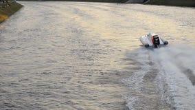 Motor boat race in St. Petersburg, Russia stock video footage