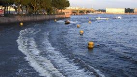 Motor boat racing stock video