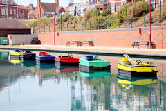 Motor boat reflections. Stock Photography