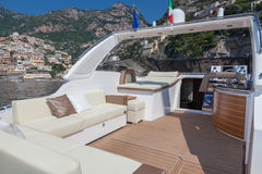 Motor boat relax. Motor boat situation, rio yachts, italy Stock Images