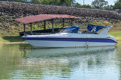 Motor boat in the river Stock Photography