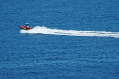 Motor boat on sea Stock Images