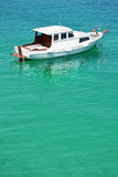 Motor boat on the sea Stock Images