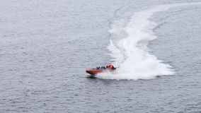 Motor boat in the sea Stock Photography
