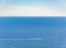 Motor boat in the sea of French Riviera stock photography