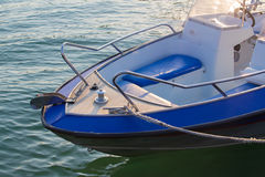 Motor boat on the sea. In summer closeup stock images