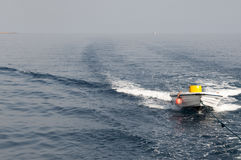 Motor boat in the sea Stock Images