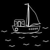 Motor boat ship sailboat Royalty Free Stock Photo