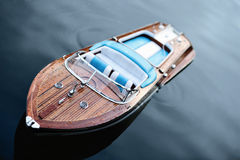 Motor Boat On Silent Water Royalty Free Stock Photography