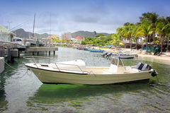 Motor boat  St. Maarten, Netherlands Antilles Royalty Free Stock Images