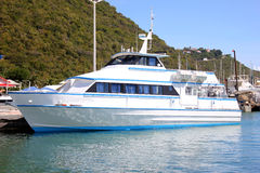 Motor boat  St. Maarten, Netherlands Antilles Royalty Free Stock Photos