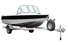 Motor boat on the trailer. Stock Photography