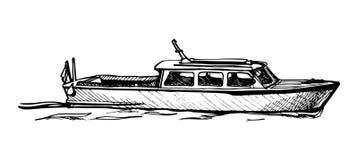 Motor boat. Royalty Free Stock Photo