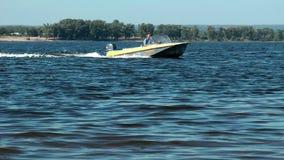 Motor boat stock video