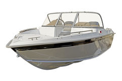 Motor boat. On a white background Stock Photography