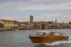 Motor boat, yacht, off the coast Italy Royalty Free Stock Photo