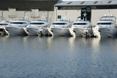 Motor boats. River Orwell Ipswich UK Royalty Free Stock Images