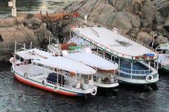 Motor boats at Aswan Royalty Free Stock Images