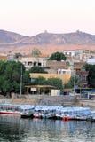 Motor boats at Aswan 2 Royalty Free Stock Images