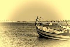 Motor Boats at the Beach Royalty Free Stock Photography