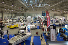 Motor Boats At Big Blue Expo, Rome 2014 Stock Image