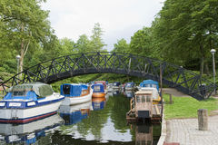 Motor Boats in a Canal Royalty Free Stock Photography