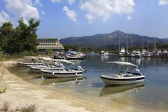 Motor boats at the dock. Stock Photography