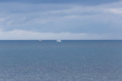 Motor boats in the sea Royalty Free Stock Photos