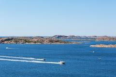 Motor boats at sea Stock Photo