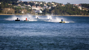 Motor boats speeding fast Royalty Free Stock Photography