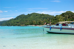 Motor boats on turquoise water of Indian Ocean Royalty Free Stock Photo