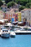 Motor boats in Veli Losinj bay in Croatia Stock Photography