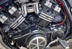 Motor brilhante da motocicleta Fotografia de Stock