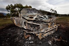 Motor Car Arson Royalty Free Stock Photos