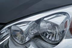 Motor car headlamps stock image