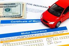 Motor or car insurance application Stock Photos