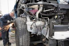 Motor car in repair shop Royalty Free Stock Photos
