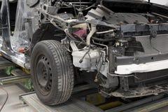 Motor car in repair shop Stock Image