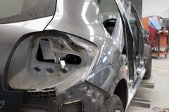 Motor car in repair shop Royalty Free Stock Image