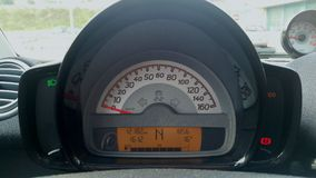 Motor car speedometer Royalty Free Stock Images