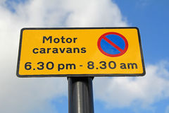Motor caravans sign Royalty Free Stock Photos