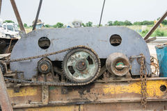 Motor chain and gear Stock Photo