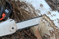 Motor Chainsaw Royalty Free Stock Photos