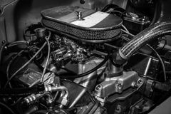 Motor Chevrolet Bel Air Pro Street Royalty-vrije Stock Fotografie