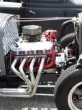 Motor clássico de Chrome do Car Show fotos de stock royalty free